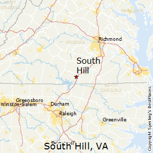 South_Hill,Virginia Map