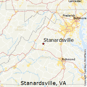 Stanardsville,Virginia Map