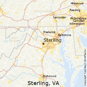 Best Places To Live In Sterling Virginia - Virginia on map