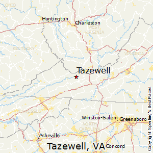 Tazewell,Virginia Map