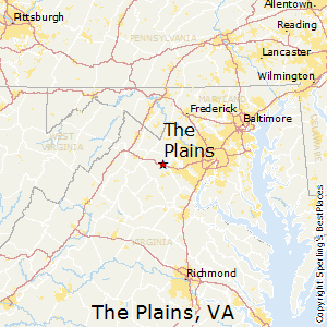 The_Plains,Virginia Map