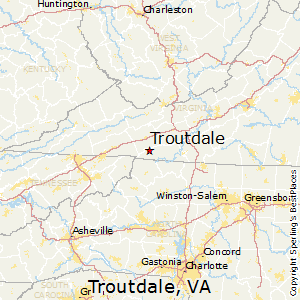 Troutdale,Virginia Map