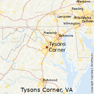 Tysons_Corner,Virginia Map