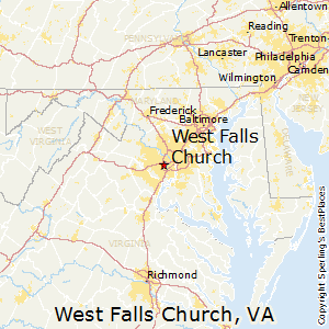 Falls Church Virginia Map.Best Places To Live In West Falls Church Virginia