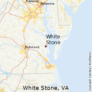 White_Stone,Virginia Map