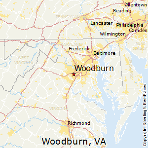 Woodburn,Virginia Map