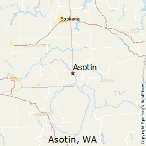Asotin,Washington Map
