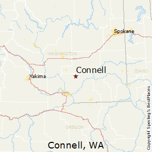 Connell,Washington Map
