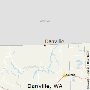 Danville,Washington Map