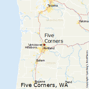 Five_Corners,Washington Map