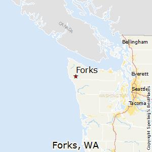 Forks Washington Map Comparison: Forks, Washington   Ketchikan, Alaska Forks Washington Map