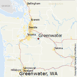 Greenwater,Washington Map