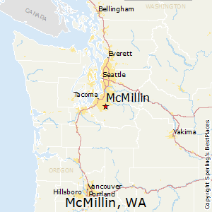 McMillin,Washington Map