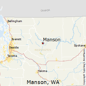 Manson,Washington Map