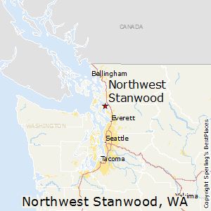 Northwest_Stanwood,Washington Map