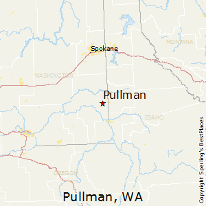 Pullman,Washington Map