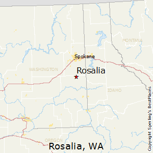 Rosalia,Washington Map