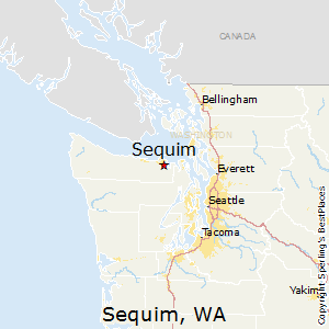 Sequim,Washington Map