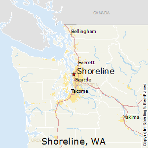 Shoreline,Washington Map