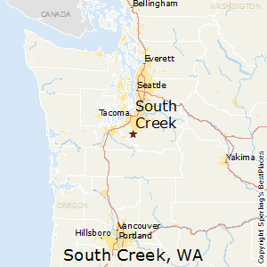 South_Creek,Washington Map
