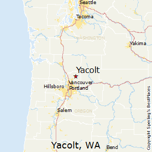 Yacolt,Washington Map