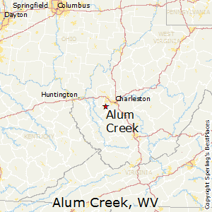 Alum_Creek,West Virginia Map