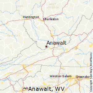 Anawalt,West Virginia Map