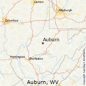 Auburn,West Virginia Map