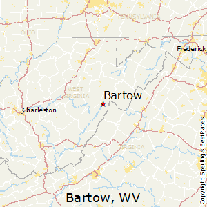 Bartow,West Virginia Map
