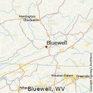 Bluewell,West Virginia Map