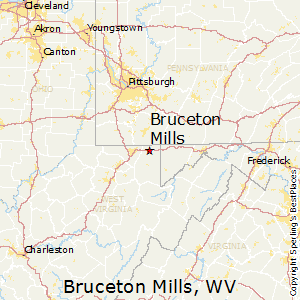 Bruceton_Mills,West Virginia Map