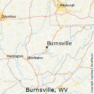 Burnsville,West Virginia Map