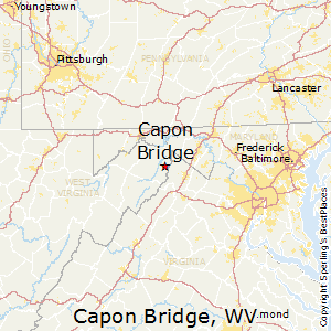 Capon_Bridge,West Virginia Map