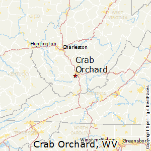 Crab_Orchard,West Virginia Map