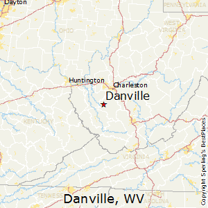 Danville,West Virginia Map