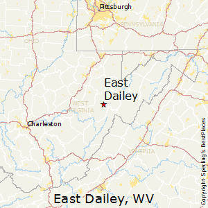 East_Dailey,West Virginia Map