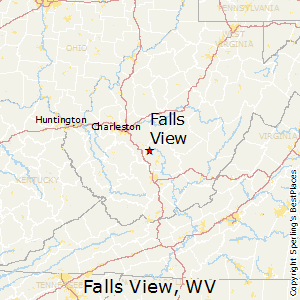Falls_View,West Virginia Map