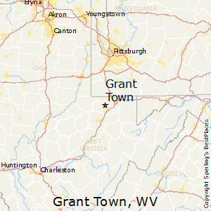 Grant_Town,West Virginia Map