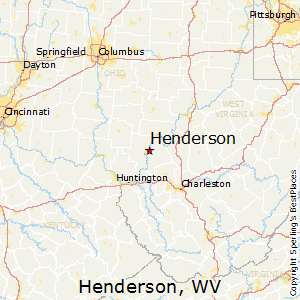 Henderson,West Virginia Map