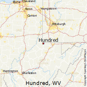 Hundred,West Virginia Map