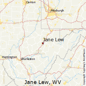 Jane_Lew,West Virginia Map