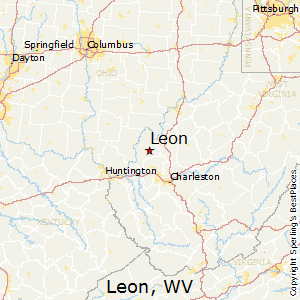 Leon,West Virginia Map