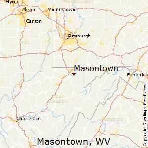 Masontown,West Virginia Map