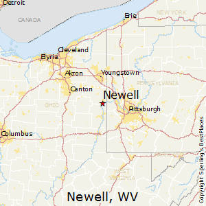 Newell,West Virginia Map
