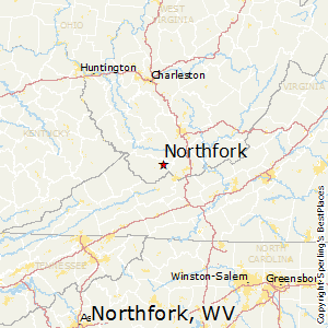Northfork,West Virginia Map