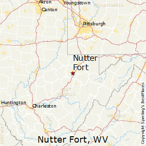 Nutter_Fort,West Virginia Map