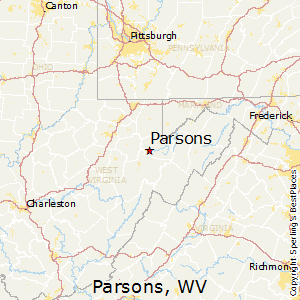 Parsons,West Virginia Map