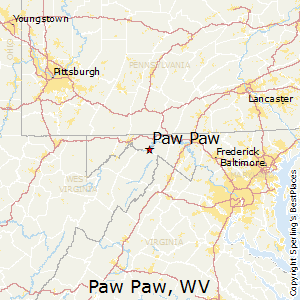 Paw_Paw,West Virginia Map