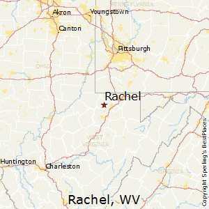 Rachel,West Virginia Map