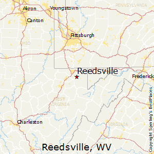 Reedsville,West Virginia Map